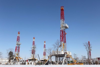 natural gas well rig