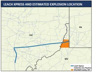 pipeline explosion location