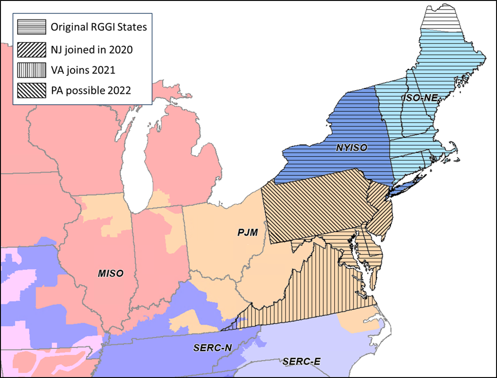 RGGI Coverage Map by State and Service Area Regional Greenhouse Gas Initiative